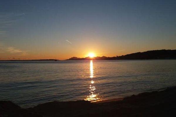 Soleil couchant -Antibes-Golfe-Juan.