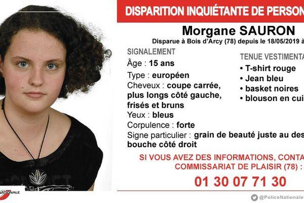 Morgane Sauron, âgée de 15 ans, est portée disparue depuis le 18 mai 2019.