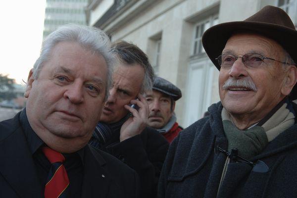 Yvon Luby, à droite sur la photo, a été maire d'Allonnes pendant 31 ans.