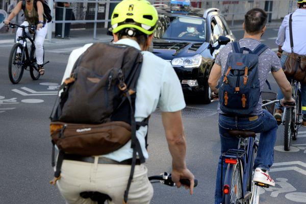 Le cycliste a été renversé après une altercation verbale, dans le 7ème arrondissement de Lyon, en novembre 2019.