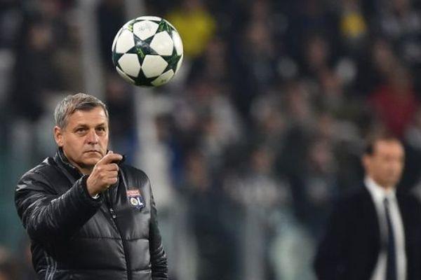 L'entraîneur de l'Olympique Lyonnais Bruno Genesio lors d'un match contre la Juventus de Turin le 2 novembre 2016.