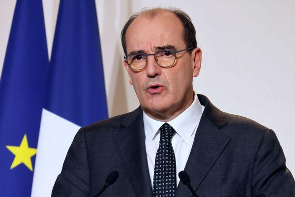 Le Premier ministre, Jean Castex, lors d'une conférence de presse donnée à Paris, le 12 novembre.