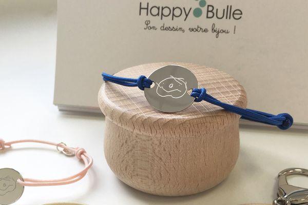 Happy Bulle personnalise bijoux et accessoires