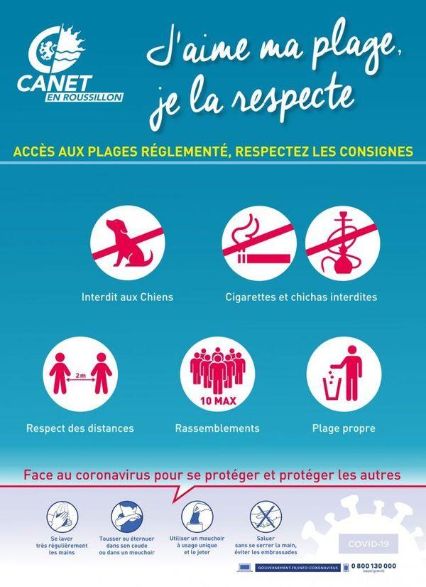 L'accès aux plages est réglementé.
