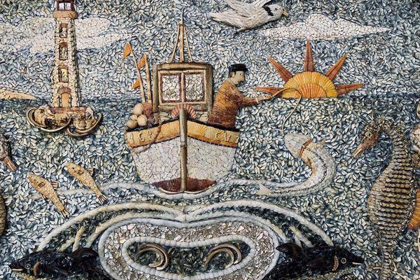"""Les tableaux de Youen Durand sont """"un hymne à la Bretagne bigoudène"""". La mer, un thème majeur dans l'oeuvre de cet ancien directeur de la criée de Lesconil"""