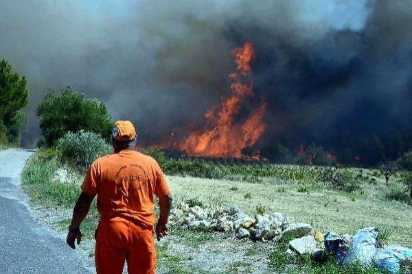 Incendie dans l'Aude. Archives.