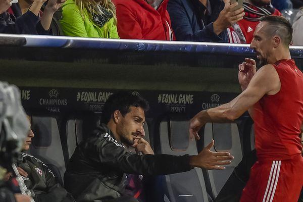 Frank Ribéry, furieux d'être sorti ce mardi soir face à Anderlecht