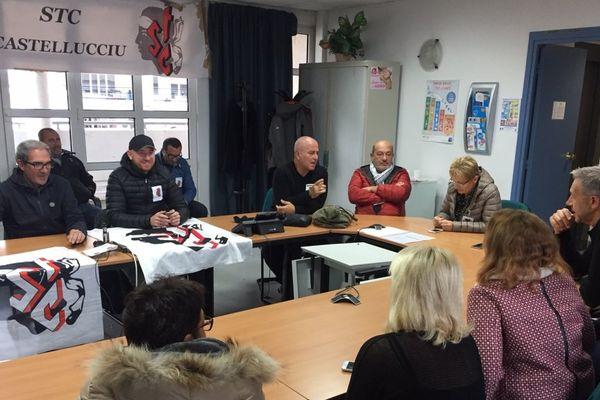 09/11/2017 - Conflit social à l'hôpital de Casteluccio, les locaux de l'ARS occupés à Bastia par le STC.