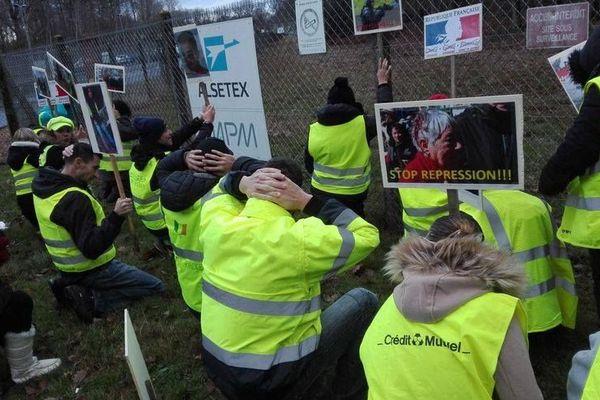 Une manifestation des gilets jaunes, le 7 décembre dernier, avait déjà eu lieu devant l'usine sarthoise.