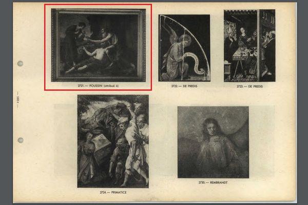 Dès 1947, le tableau de Nicolas Poussin est répertorié parmi les biens spoliés par les Nazis.