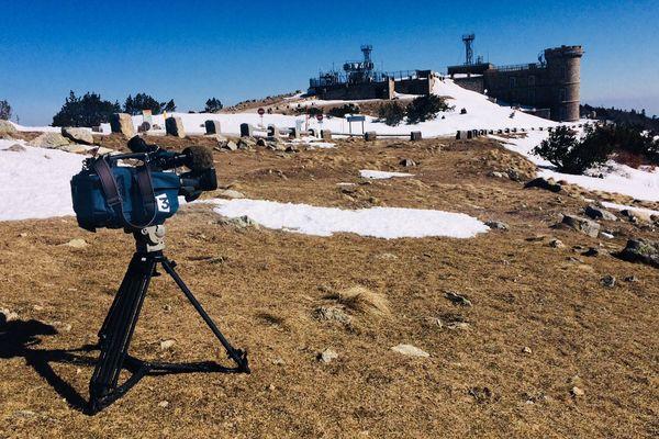 La neige au Mont Aigoual en février 2018