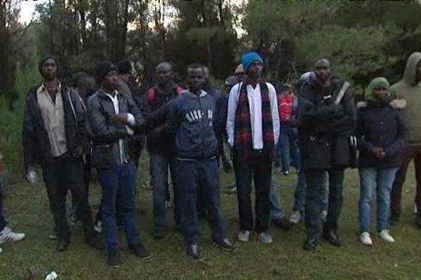 Les réfugiés qui ont quitté Calais pour Istres