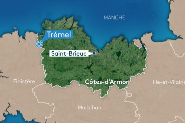 La carte de Trémel, dans les Côtes d'Armor / © FTV