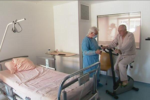 Le service d'hématologie clinique du CHU de Nice équipé de 15 vélos d'appartement pour améliorer l'état général des patients atteints de cancer de moelle osseuse, en attente de greffe.