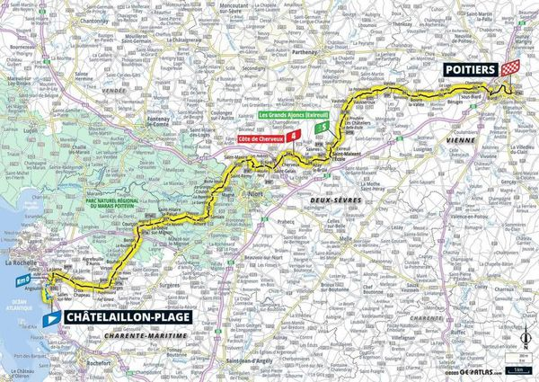 CARTE - 11ème étape Tour de France 2020