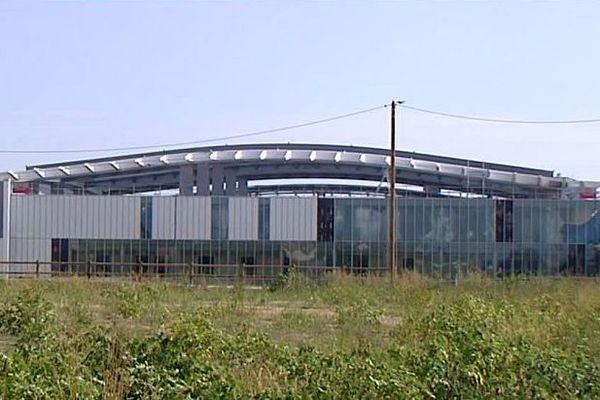 Montpellier - la future gare TGV Montpellier Sud de France en travaux - 2016.