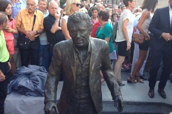 La statue de Claude Nougaro installée au centre de Toulouse lors de son inauguration en 2014