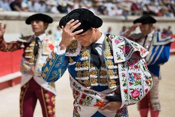 Nîmes - Jose Maria Manzanares a été le grand triomphateur de la corrida matinale de dimanche à la feria de Pentecôte - 7 juin 2014.
