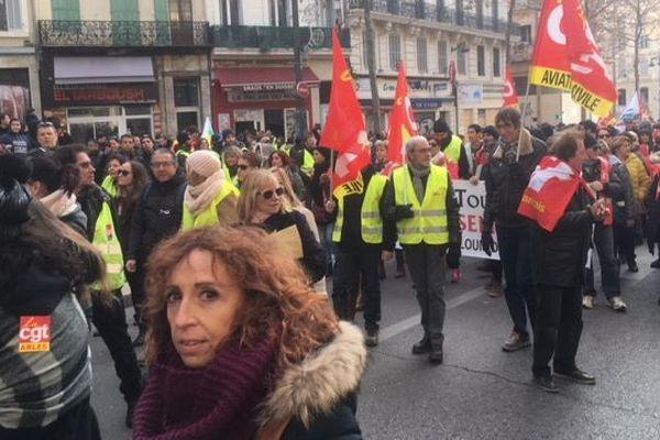 Toutes les manifestations se sont retrouvées sur la Canebière