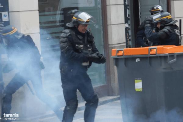 En avril 2016, à Rennes, un policier s'était blessé avec sa grenade de désencerclement