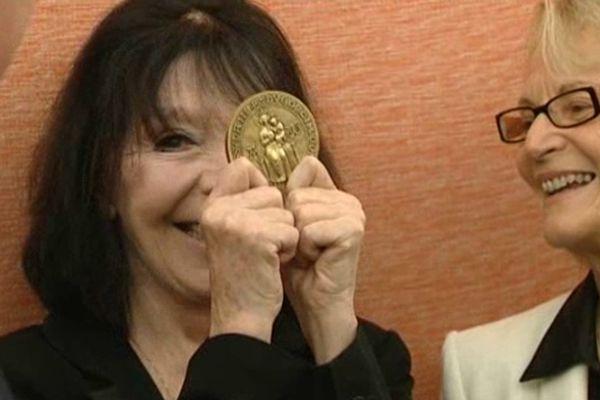 Juliette Gréco a reçu la médaille d'honneur de la ville de Montpellier, qui l'a vue naître