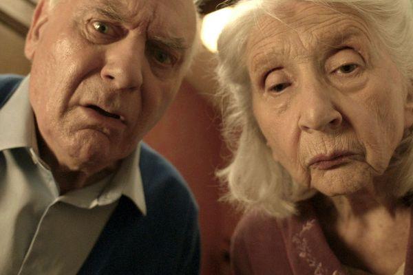 Les acteurs principaux du court métrage : Bernard Jousset et Jacqueline Staup.