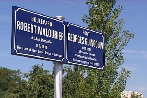 Un boulevard et un pont vont être inaugurés aux noms de Robert Malouvier et Gorges Guingouin