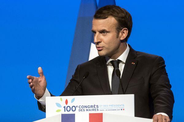 Emmanuel Macron au 100e Congrès des maires de France
