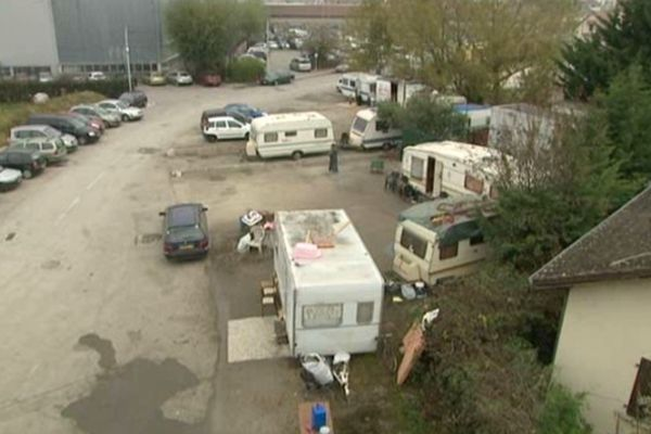 C'est ce camp de Roms qui a été évacué le jeudi 11 octobre 2012