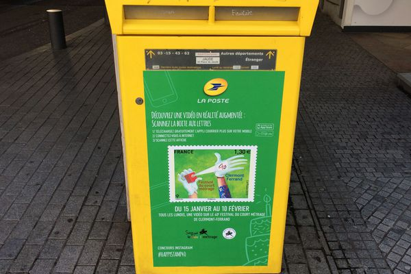 La Poste a créé plusieurs initiatives autour du Festival du court-métrage de Clermont-Ferrand. Elle propose notamment de scanner des visuels sur les boîtes aux lettres pour visionner des vidéos.