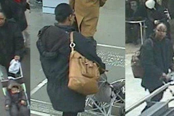 Fabienne Kabou, la mère d'Adélaïde, filmée par des caméras de vidéosurveillance.