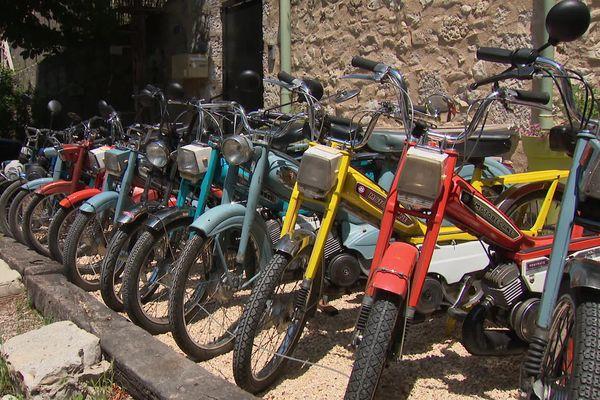 """Les deux roues des années 60 et 70 reprennent vie. A Saillans, dans la Drôme, on peut les louer pour une sortie """"vintage"""""""