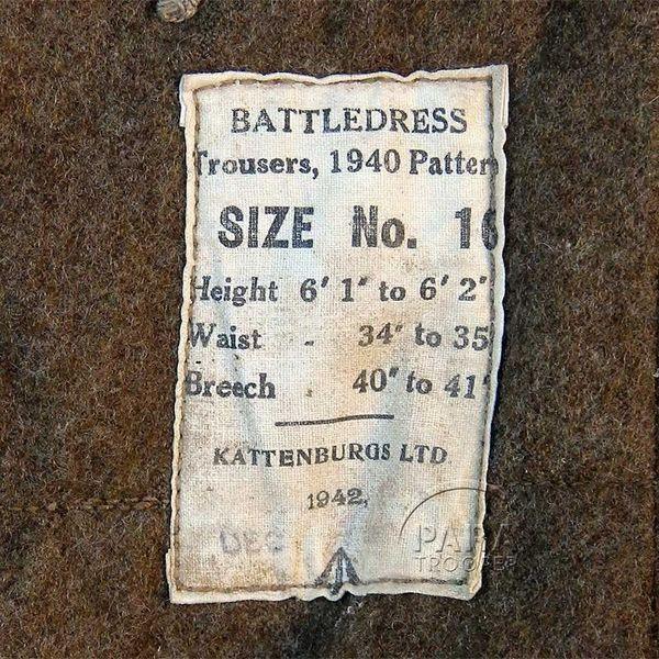 L'étiquette du pantalon volé le 20 août dans la boutique Paratrooper in Npormandy