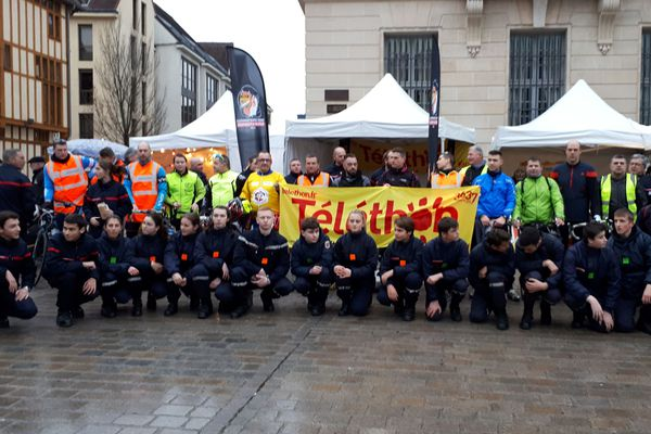 En 2019, les pompiers aubois avaient rallié Nogent-sur-Seine à Troyes en vélo