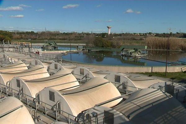 A Montpellier, La station d'épuration Maera où convergent les eaux usées de plus de 400 000 habitants.