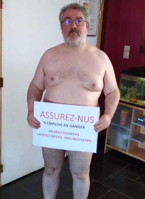 Le gérant de l'hôtel Les Mouflons à Besse-Saint-Anastaise, Bruno Vesval dénonce les assurances qui ne prennent pas en charge les pertes d'exploitation.