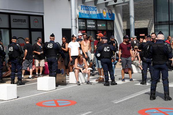 Bidart, au sud de Biarritz, où des manifestants ont été arrêtés.
