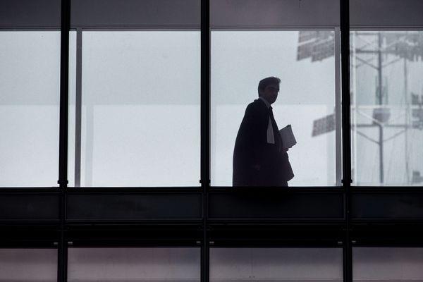 Un avocat au tribunal de la Porte de Clichy à Paris. (Illustration)