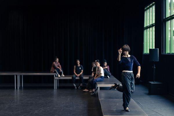 """Marina de Remedios, danseuse de flamenco en répétition pour """"One shot"""", invitée par Ousmane Sy"""