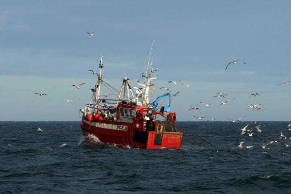 Un chalutier britannique sur la Mer du Nord.