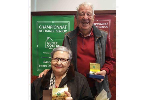 Alexandra Cariou et Jean-Claude Lerin, champions de France seniors de bridge