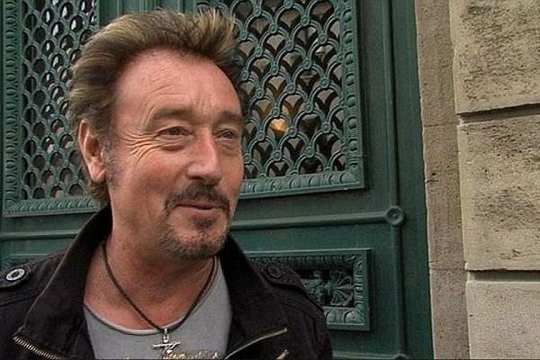 Johnny Rock, sosie de Johnny Hallyday, au tribunal correctionnel de Cherbourg, le 8 octobre 2013