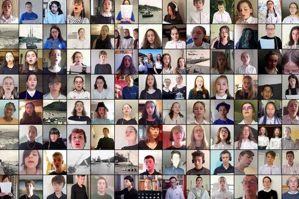 Plus de 120 jeunes des Maîtrises de Bretagne reprennent une compilation de chants de marins pour célébrer les 600 ans de la Maîtrise de Saint-Brieuc.