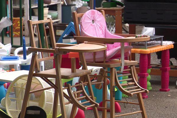 Mars 2021- Une partie des objets en vente au centre Emmaüs d'Evreux