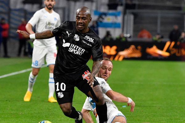 Gaël Kakuta sous le maillot d'Amiens, contre Marseille, le 6 mars dernier.