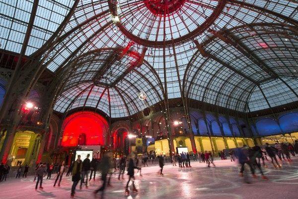 La patinoire du Grand Palais.