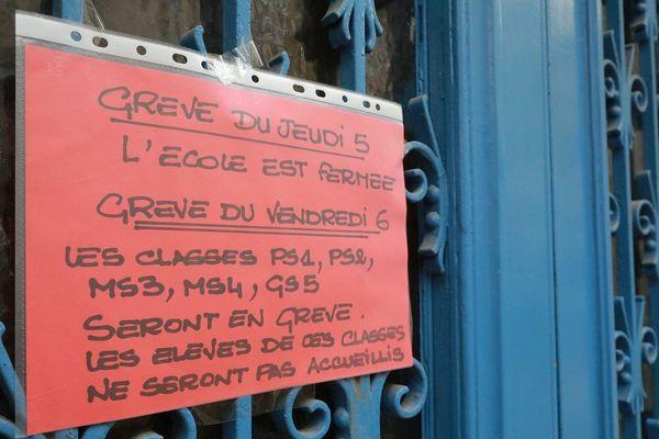 Le jeudi 5 décembre, le fonctionnement des écoles de l'académie de Clermont-Ferrand pourra être perturbé en raison d'un appel à la grève.