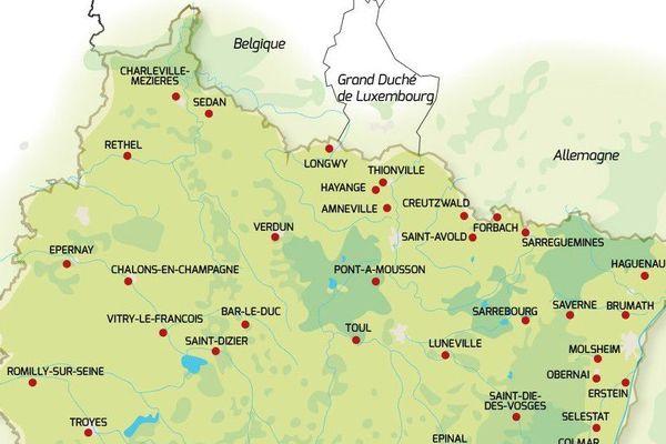 La région Grand Est a identifié 37 villes moyennes