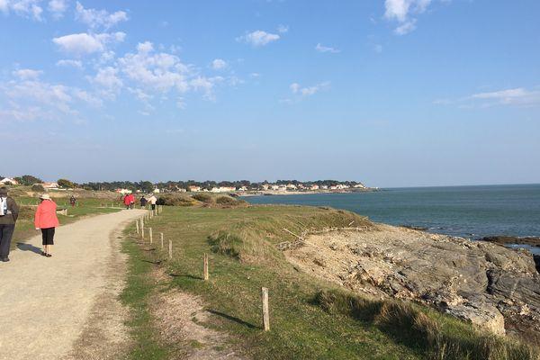 La côte atlantique près de Préfailles (Loire-Atlantique)