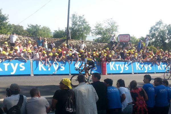 Zdenek Stybar le vainqueur de la 6ème étape entre Abbeville et Le Havre à 50 mètres de l'arrivée